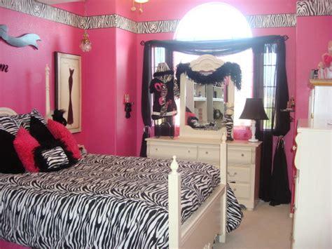 zebra print girls bedroom pink zebra print room decorations design idea and decors