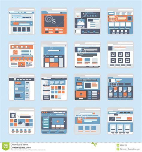 web layout vector flat website interface windows vector stock vector image