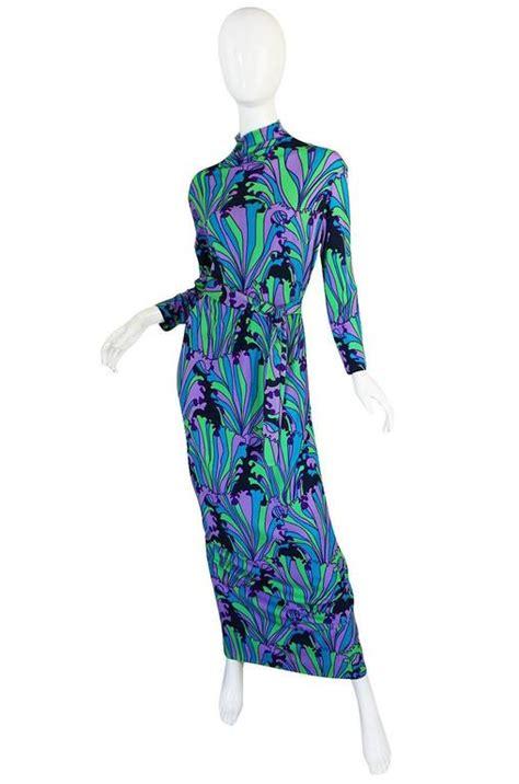 Dress Jersey Grade A Pecah 6 1970s la mendola beautifully printed silk jersey dress for