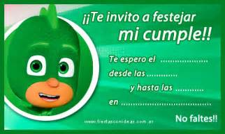 pj mask tarjeta cumplea 241 os gekko calidad imprimir fiestas infantiles