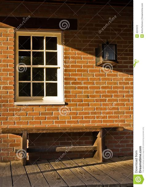 how to make a brick bench brick bench and a window stock photography image 4241672