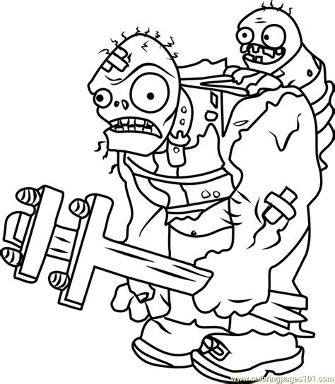 plants vs zombies coloring pages games giga gargantuar coloring page free plants vs zombies