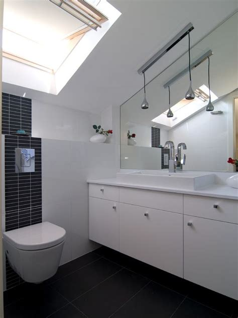 modern small white attic bathroom remodel ideas decorating tips for smaller en suite bathrooms