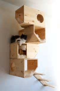 wooden modular cat house