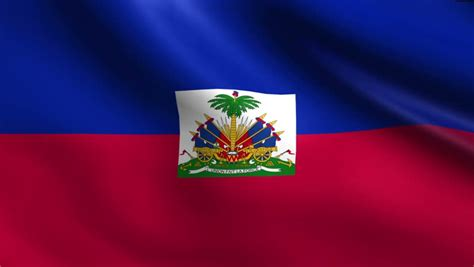 haiti flag waving seamless loop in 4k and 30fps haitian