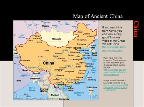 map of ancient china history 5 china ppt
