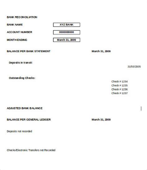 16 free bank reconciliation templates pdf excel formats