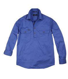 Zetta Tunic 1 2 button sleeve workshirt work shirts