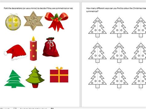 christmas patterns ks1 primary geometry and measures teaching resources symmetry