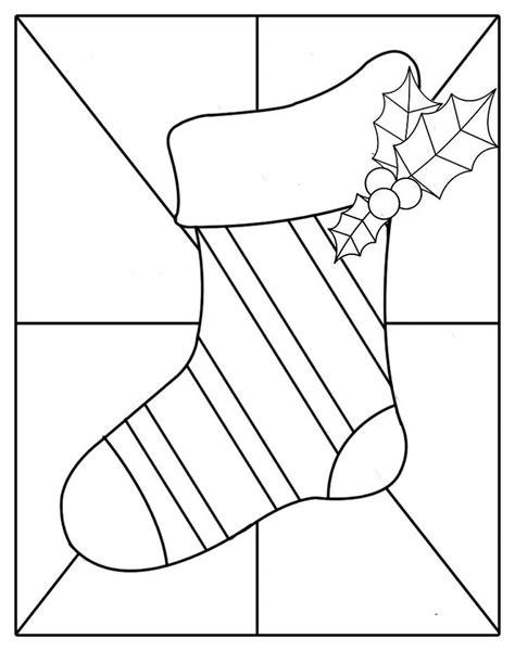christmas stocking pattern printable christmas