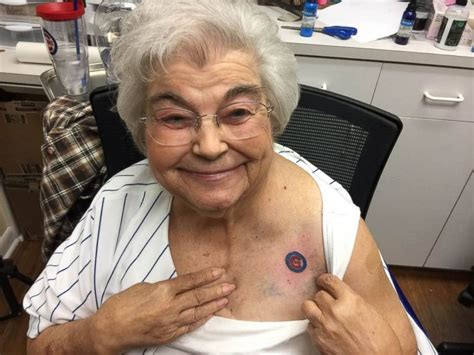 grandma and granddaughter tattoos 82 year cubs fan gets team with and