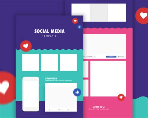 social media caign template social media template psd at downloadmockup
