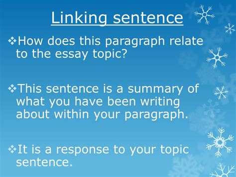 Essay Writing Paragraph Linking by Writing Essay Paragraphs Ppt