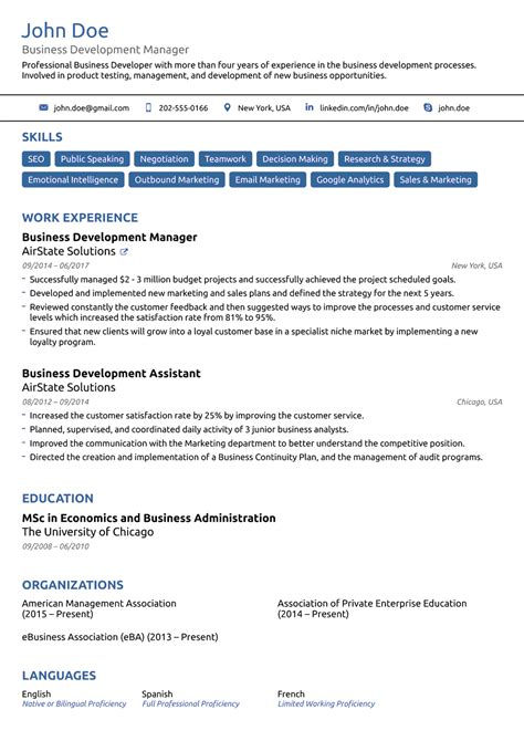 Free Templates For Resume by 2018 Professional Resume Templates As They Should Be 8