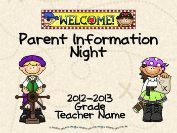 Parent Information Night Power Point Template Pirate Theme Tpt Pirate Powerpoint Template