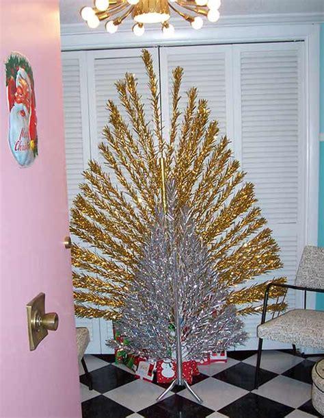 flat evergleam quot peacock quot aluminum christmas trees a