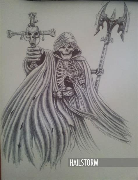 grim reaper pen drawing by hailstorm11 on deviantart