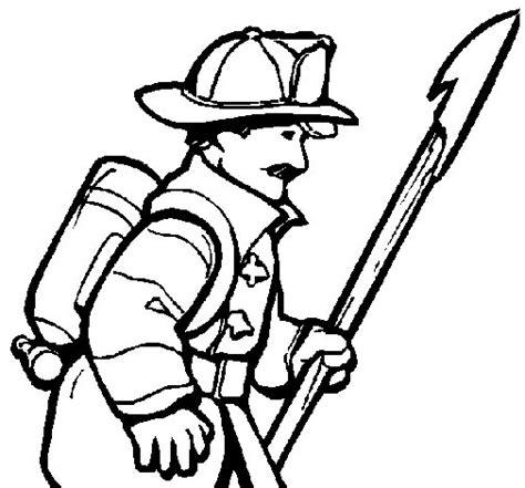 imagenes para colorear bombero dibujo de bombero para colorear dibujos net