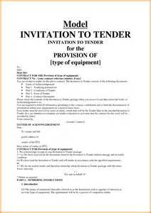 Tender Decline Letter Exle 10 Invitation To Tender Exle Ledger Paper