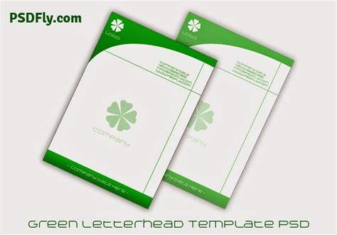 business letterhead psd template green letterhead template psd psd fly free