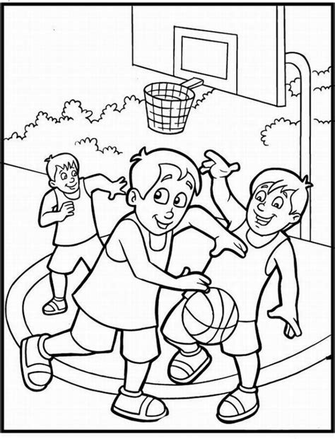 funny basketball coloring pages free printable coloring sheet of basketball sport for kids