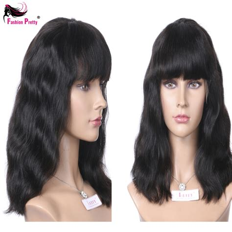 Hairstyle Wigs With Bangs by The Gallery For Gt Human Hair Wigs With Bangs