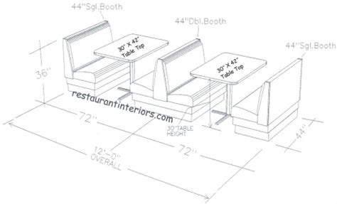 Average Couch Length booth kitchen pic booth chairs