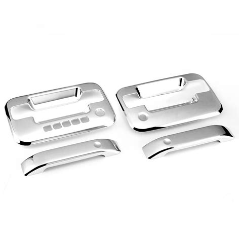 Front Door Handle With Keypad 04 14 Ford F150 2dr 2pcs Exterior Door Handle Cover With