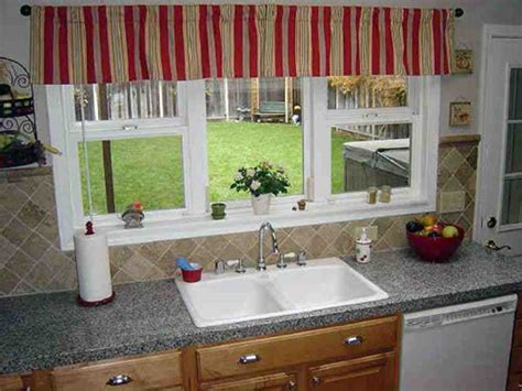 ideas for kitchen windows red kitchen window valances ideas decor ideasdecor ideas