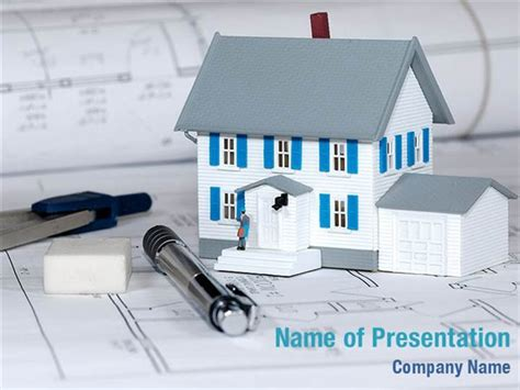 house powerpoint template house building estimate powerpoint templates house
