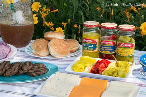 hamburger toppings bar build your own burger bar plus a giveaway lemoine family