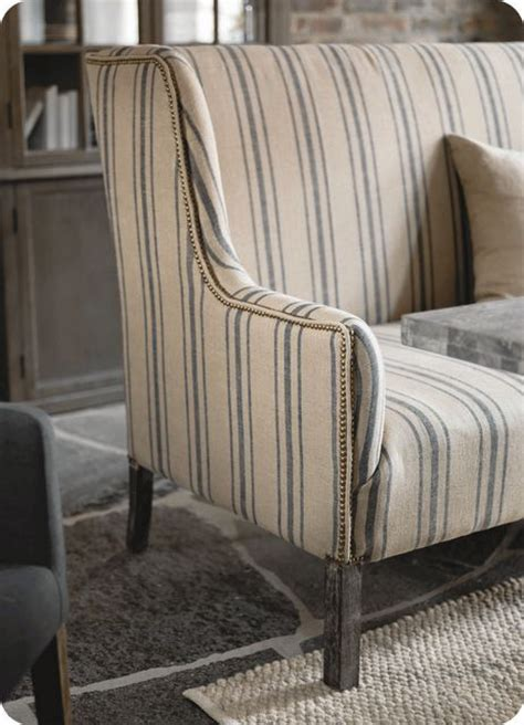 Striped Fabric Sofas Uk by 25 Best Ideas About Ticking Fabric On