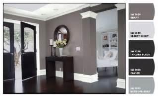 Black White Gray Color Scheme Black Interior Doors White Trim Two Coats Sw All Surface