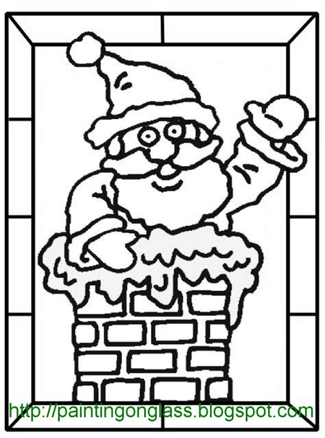 free coloring pages of christmas stain glass