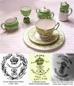 English pottery marks pottery