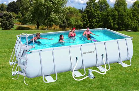 stahlrahmen pool überwintern bestway 56223gs schwimmbad 549x274x122cm komplettset