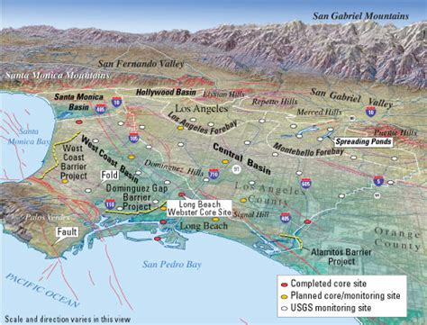 map of los angeles basin probing the los angeles basin insights into ground water