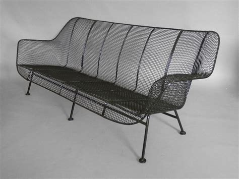 Wrought Iron Mesh Patio Furniture Woodard Wrought Iron With Mesh Outdoor Garden At 1stdibs