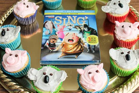 cupcakes inspired by pig cupcakes and koala cupcakes inspired by sing