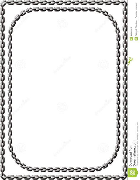 Square Marco Oval chain frame stock vector image of pattern