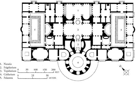 baths of caracalla floor plan roman art flashcards at cypress lakes high school studyblue