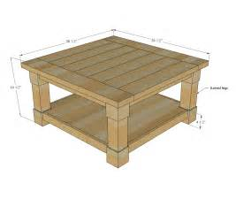 coffee table size ana white corona coffee table square diy projects
