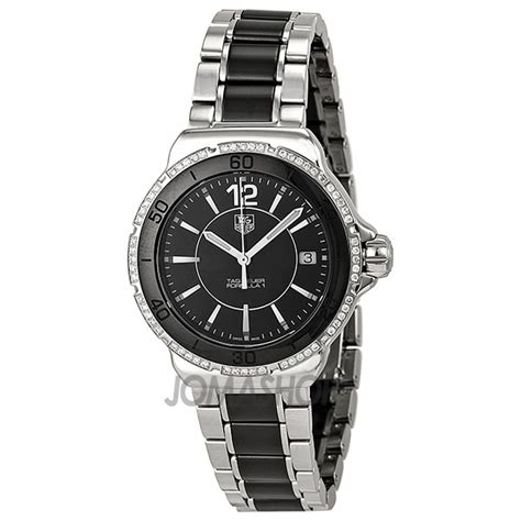 tag heuer ladies formula 1 watch tag heuer formula 1 black ceramic ladies watch wah1212