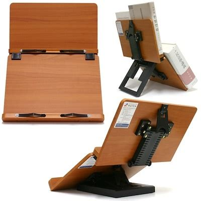 Qoo10 New Portable Wooden Reading Book Stand Document Book Stand Desk