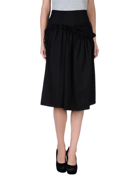 rocha knee length skirt in black save 57 lyst