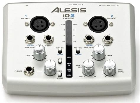 Alesis Io2 Usb Sound Card question about set of m audio m track alesis io2 express