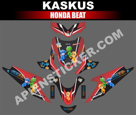 Decal Motor Honda Beat Esp X Beat Dubai striping motor beat kaskus merah apien sticker