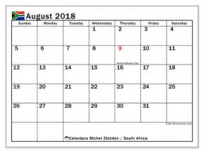 Calendar 2018 Holidays South Africa Calendar August 2018 South Africa