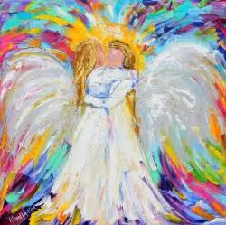 Curtain Online Angel Hugs Painting By Karen Tarlton