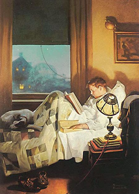 a in his home books martin grams a norman rockwell